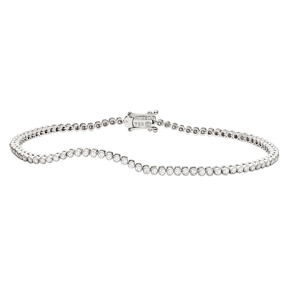 "18k White Gold & Diamond ""Stitch"" Bracelet"