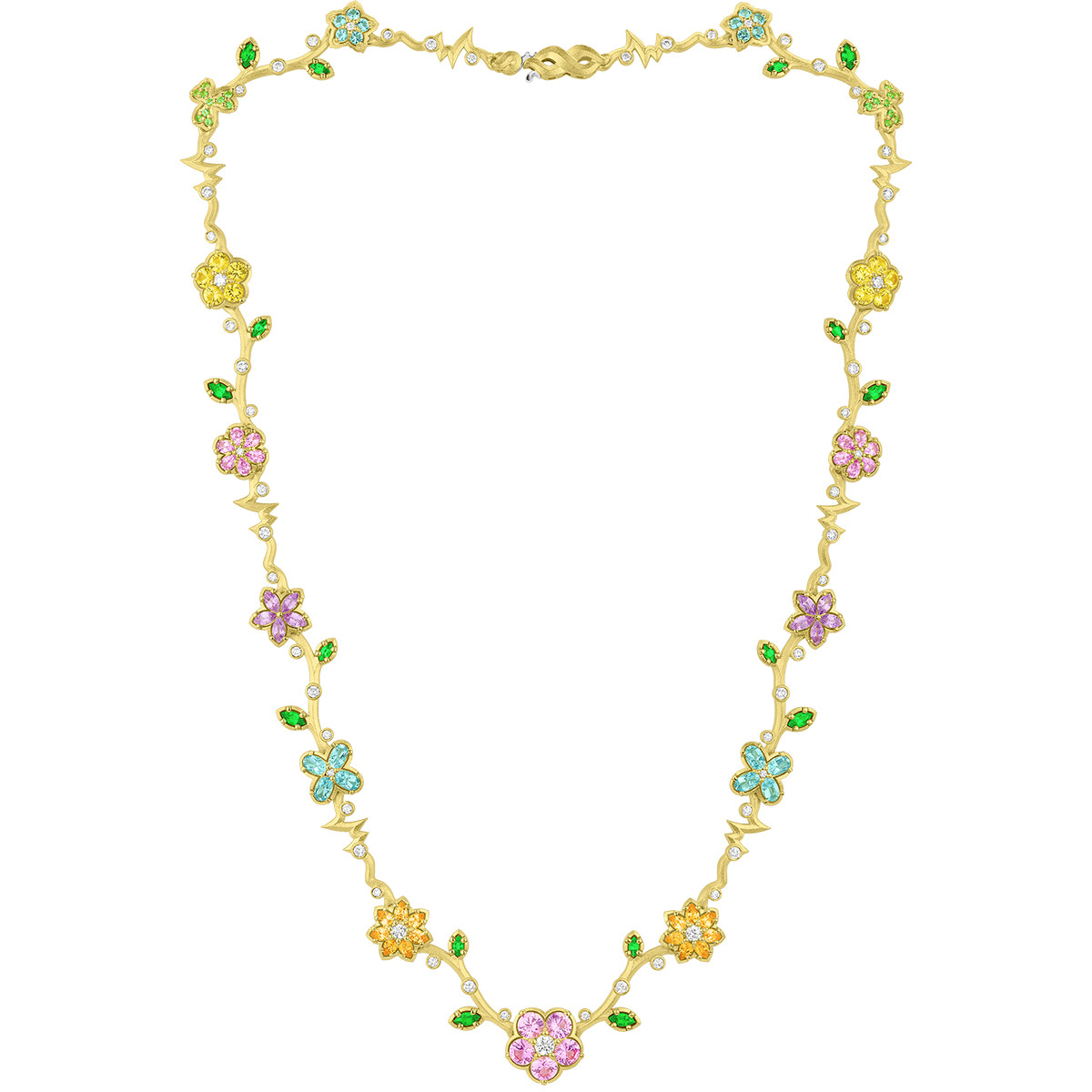 "Multicolored Gemstone ""Wild Child"" Necklace"