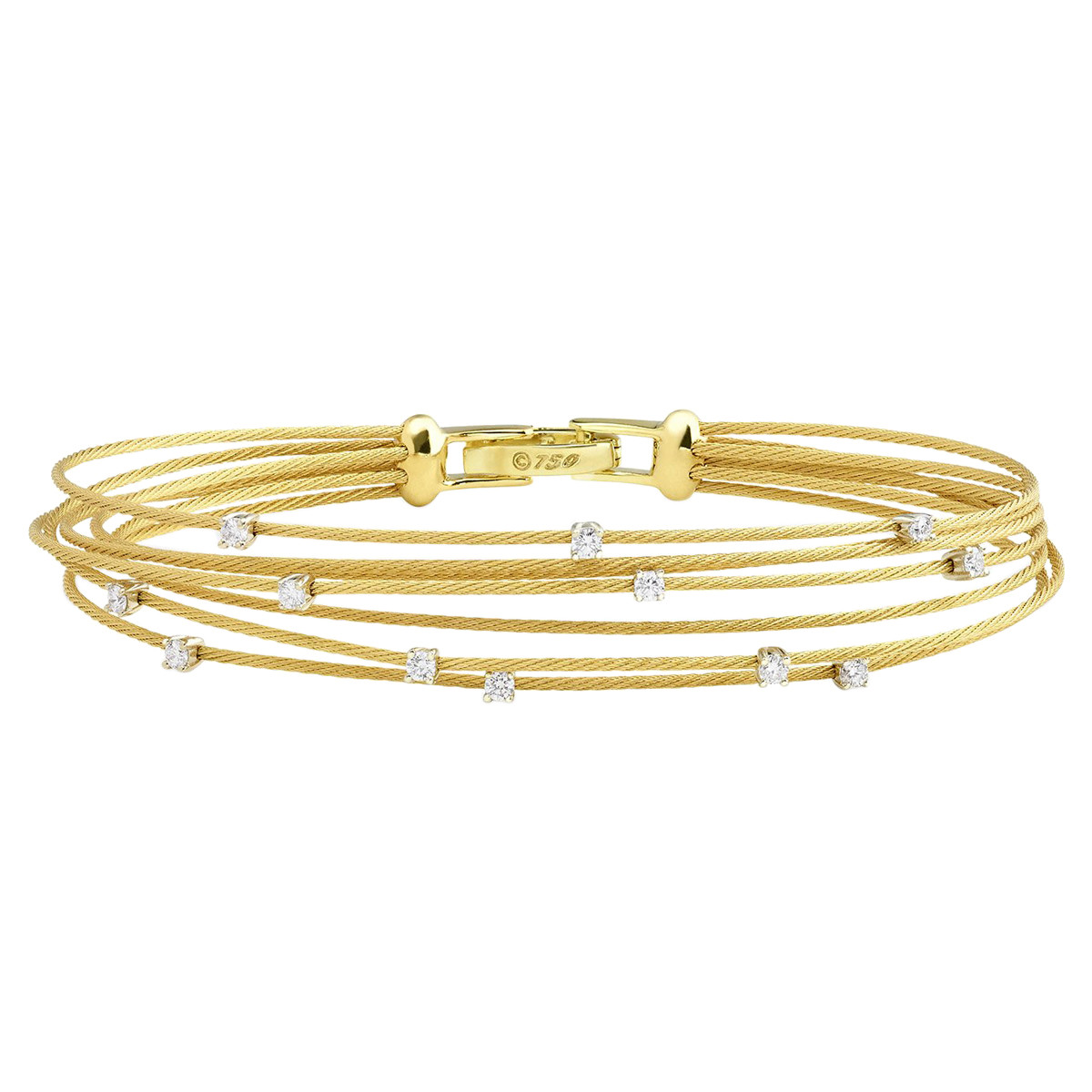 "18k Yellow Gold & Diamond ""Unity"" Bundle Bracelet"