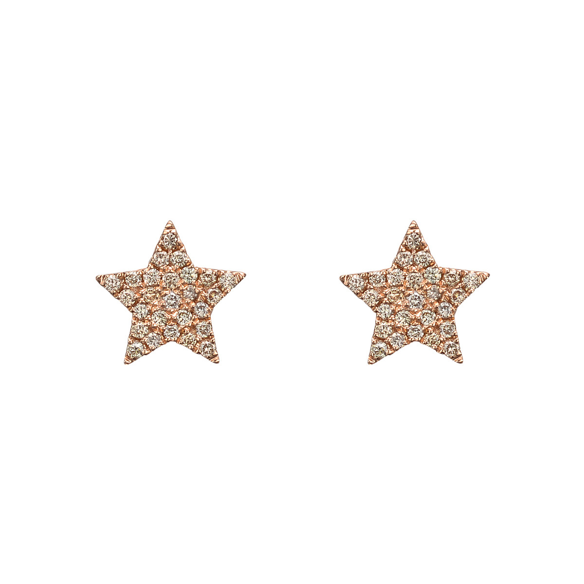 Pavé Brown Diamond Star Earstuds