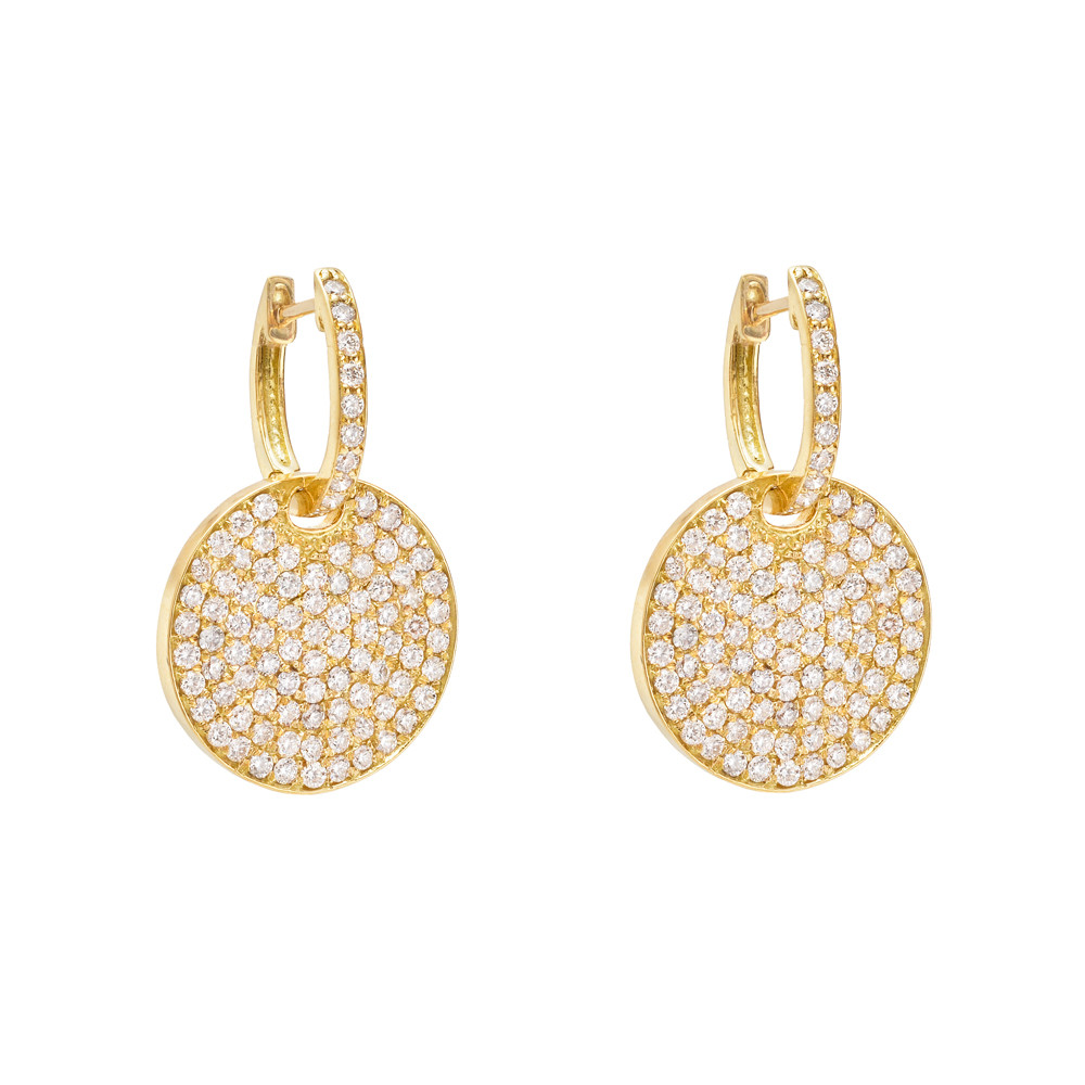 earrings circle circular gdclr earring drop crystal