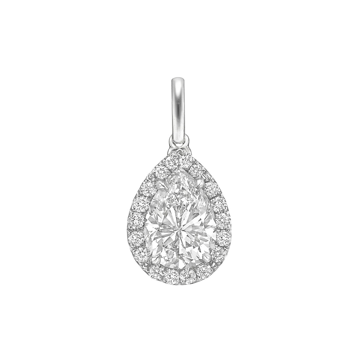 "1.54ct Pear Brilliant Diamond ""Oriana"" Pendant"