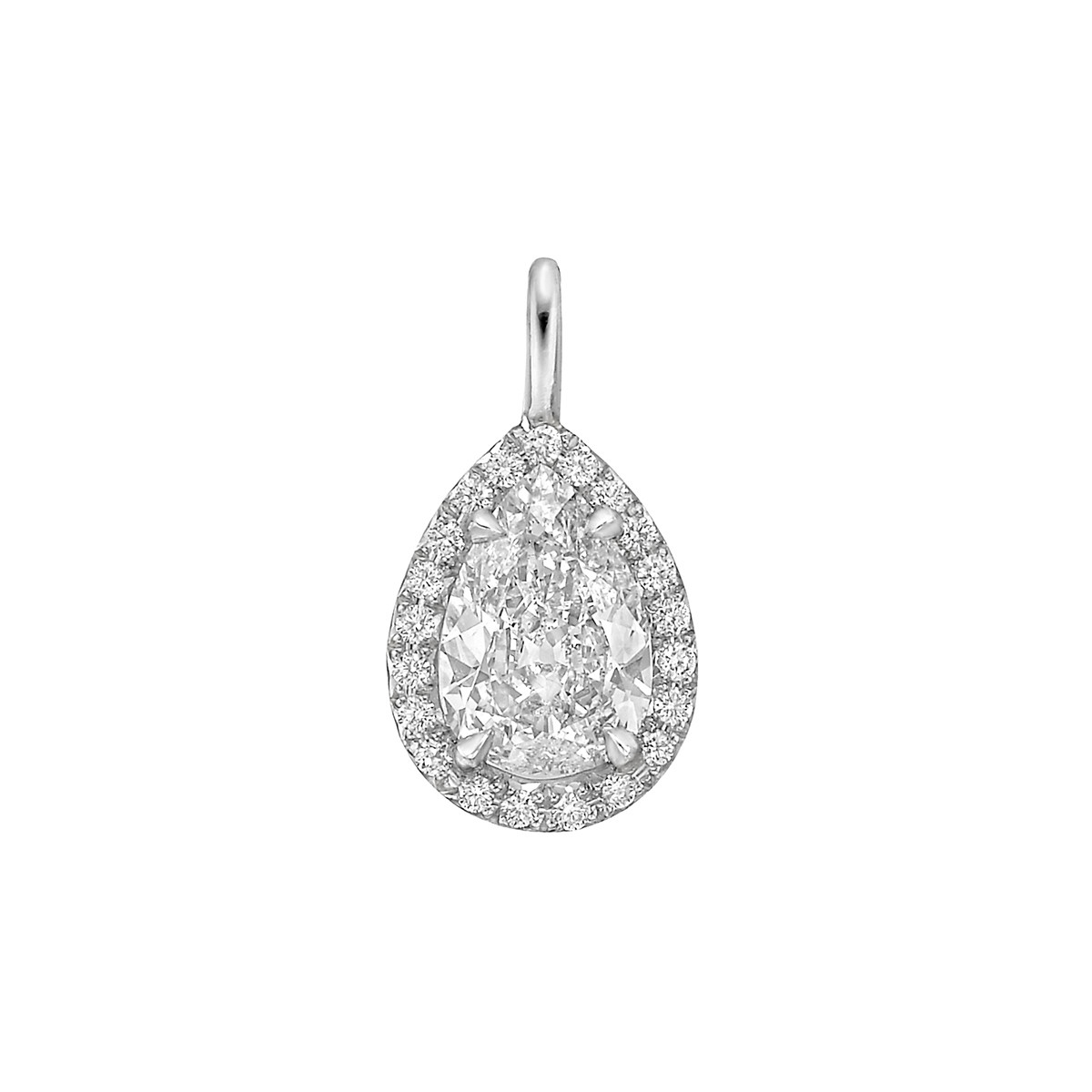 "1.16 Carat Pear Brilliant Diamond ""Oriana"" Pendant"