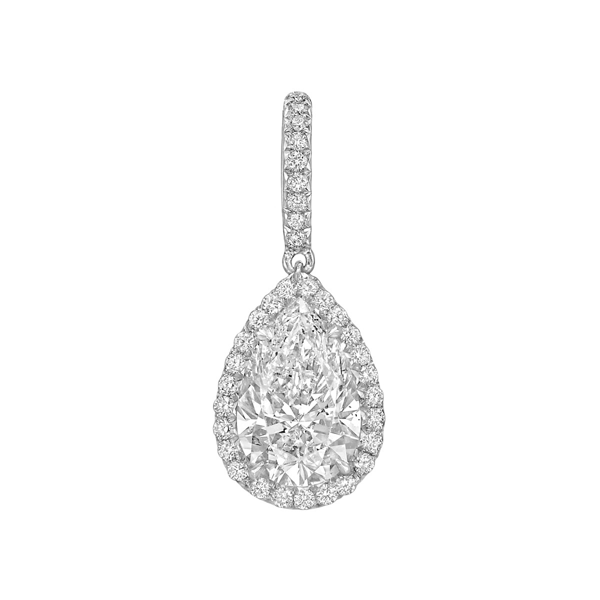 "3.01 Carat Pear Brilliant Diamond ""Oriana"" Pendant"