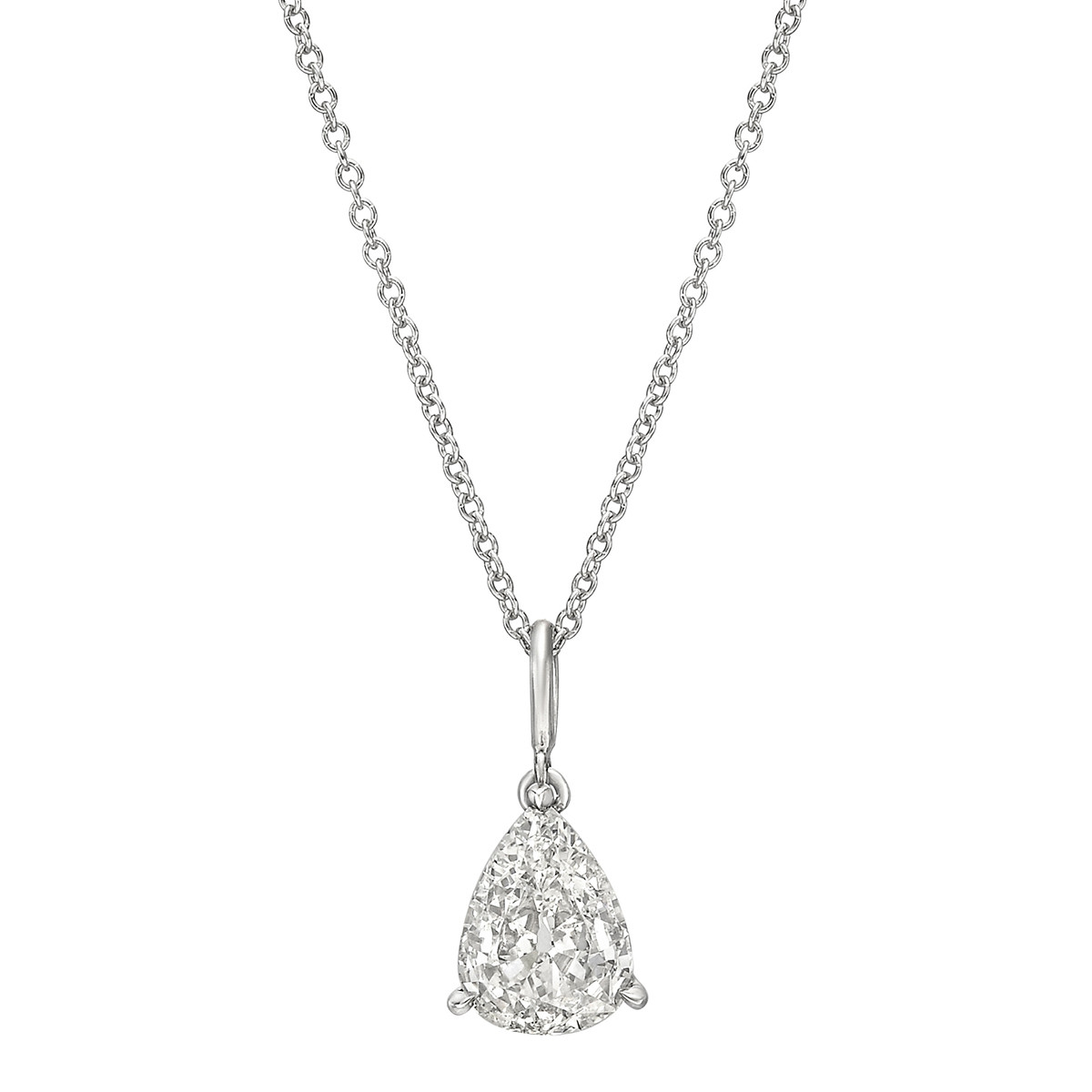 1.15 Carat Pear Brilliant Diamond Solitaire Pendant