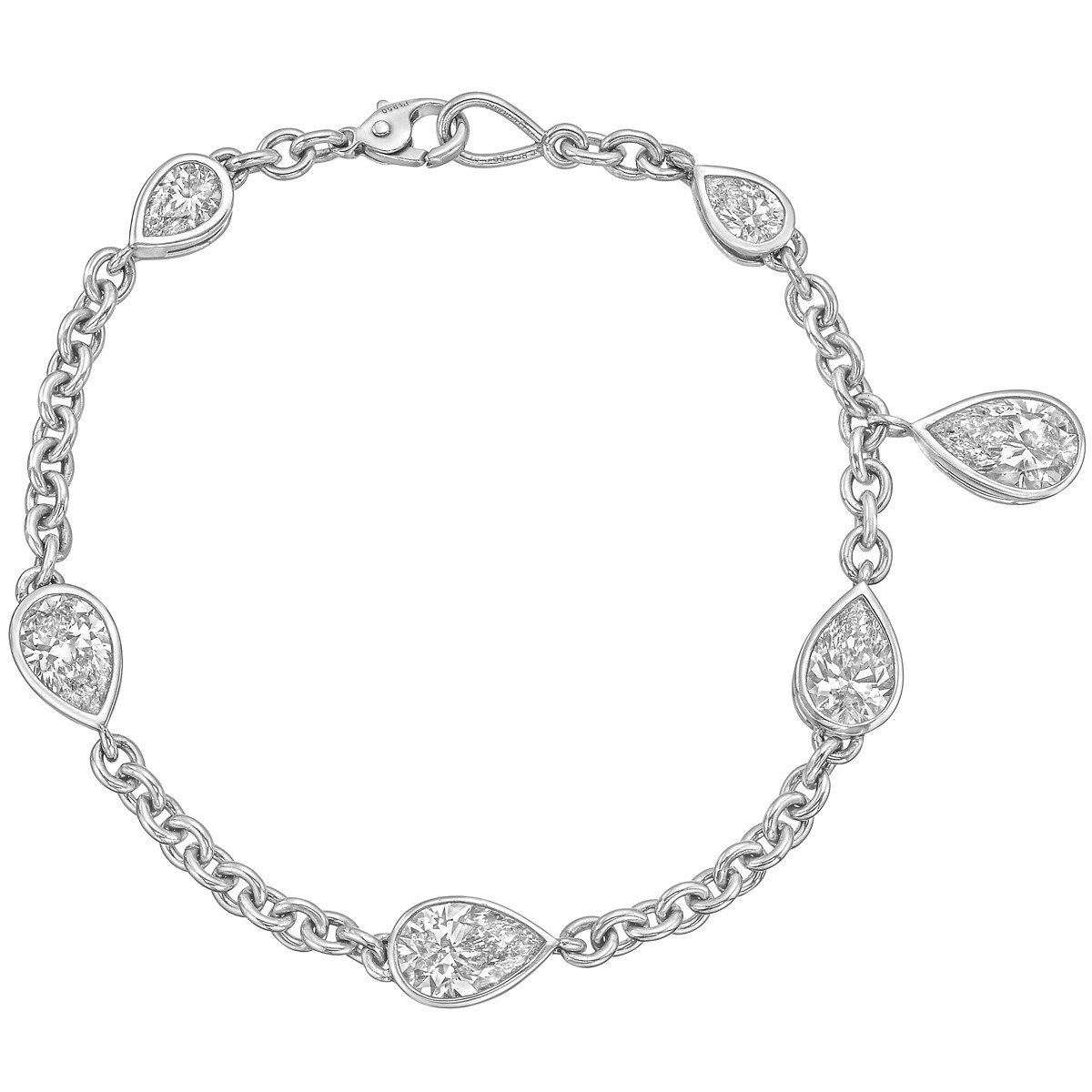 Pear-Shaped Diamond Chain Bracelet (7.76 ct tw)