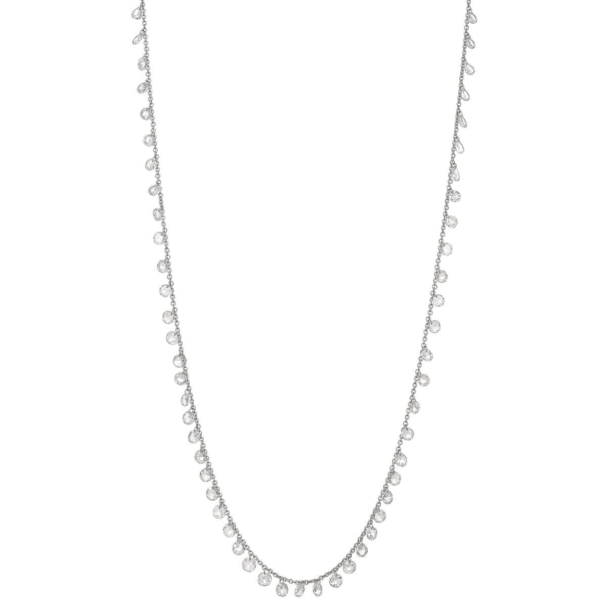 Rose-Cut Diamond Fringe Chain Necklace (5.13 ct tw)