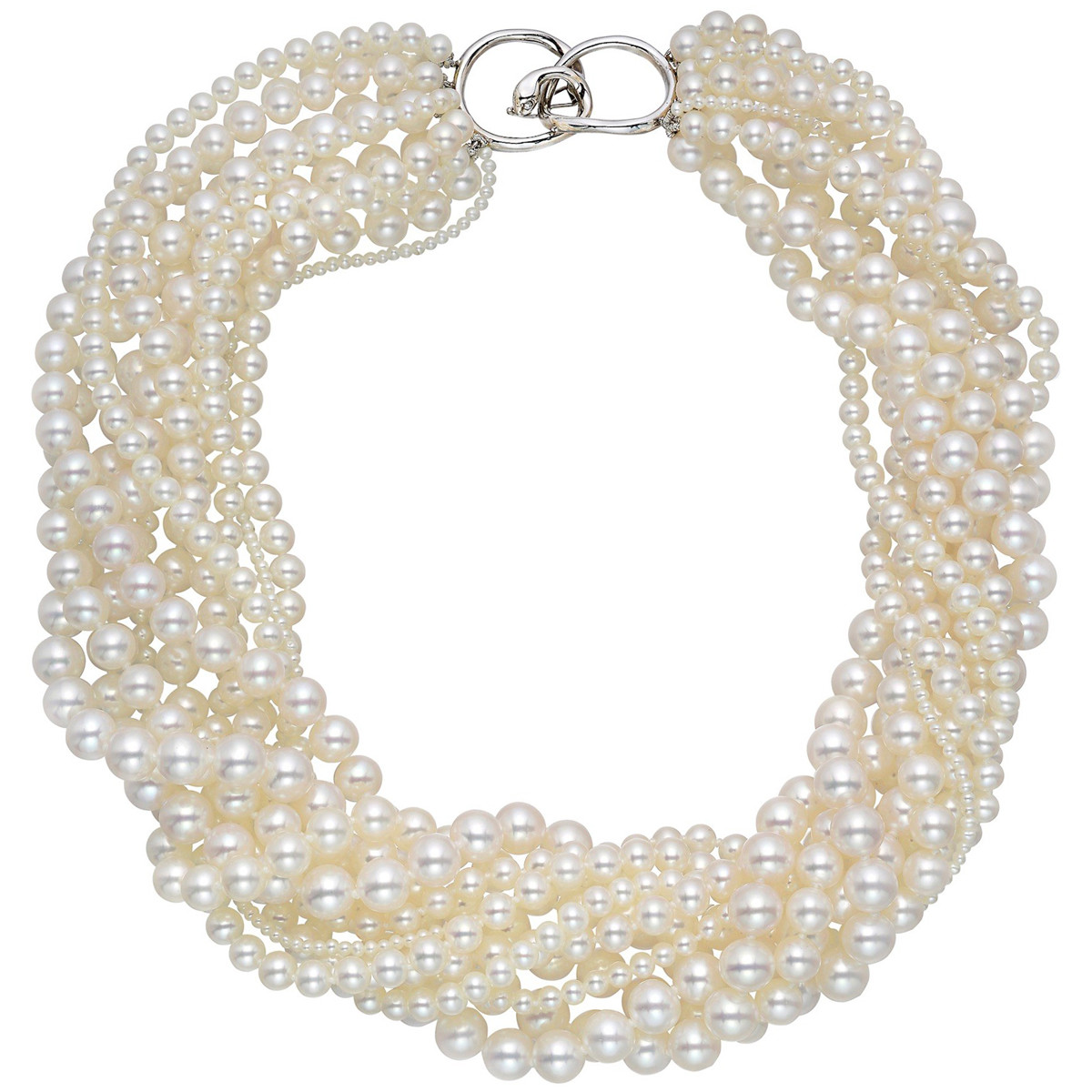 11-Strand Pearl Torsade Necklace