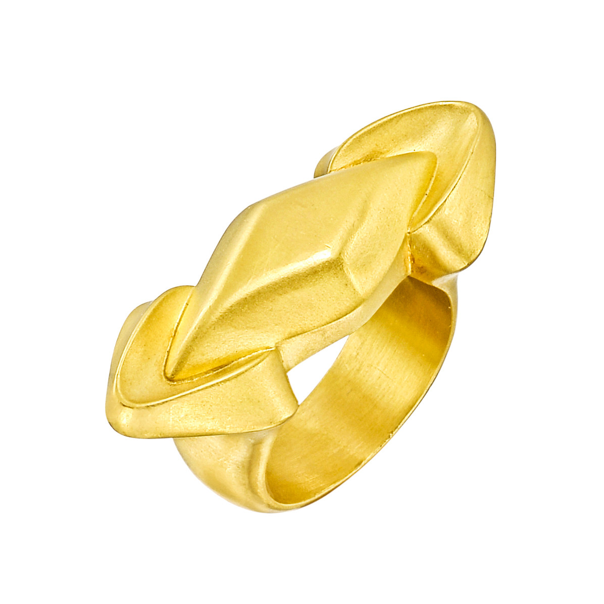 22k Gold Geometric Ring