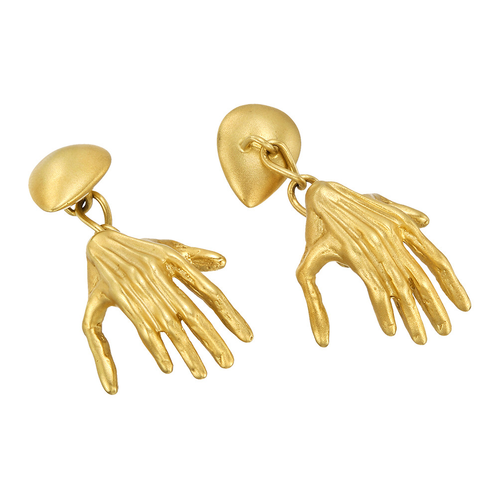 "18k Gold ""Hands"" Loose Links"