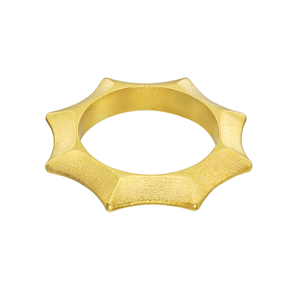 18k Gold Star Band Ring