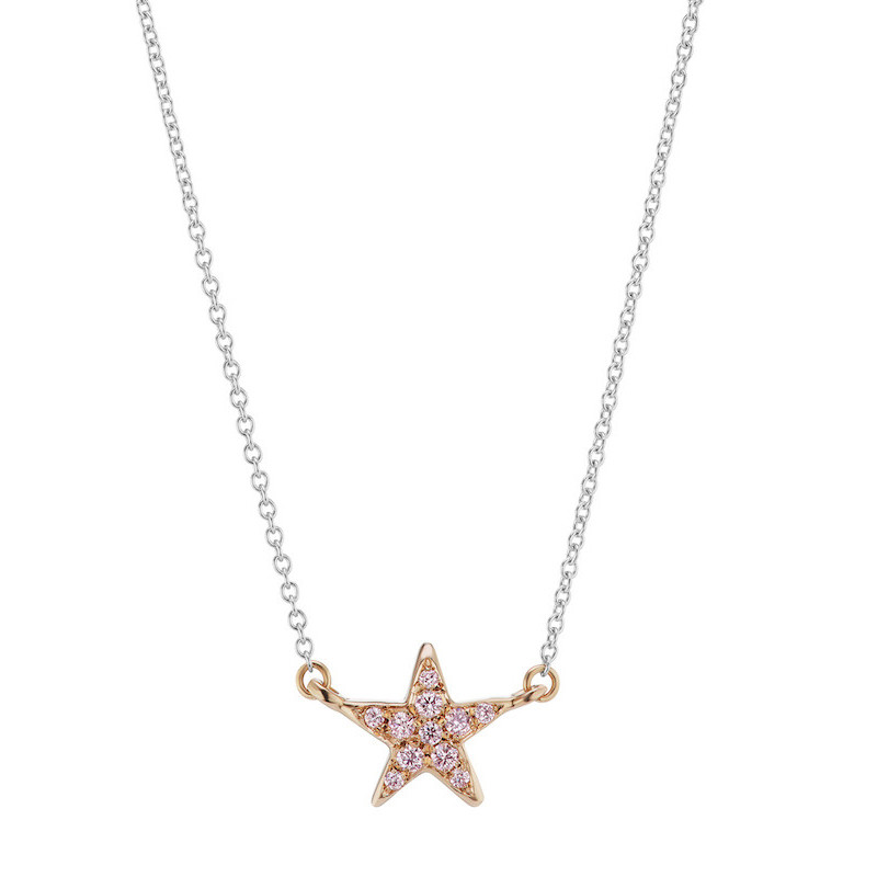 Argyle Pink Diamond Star Pendant Necklace