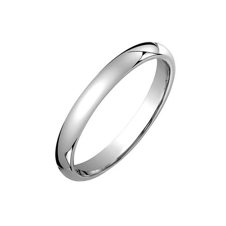 Platinum Comfort Fit Wedding Band (3mm)