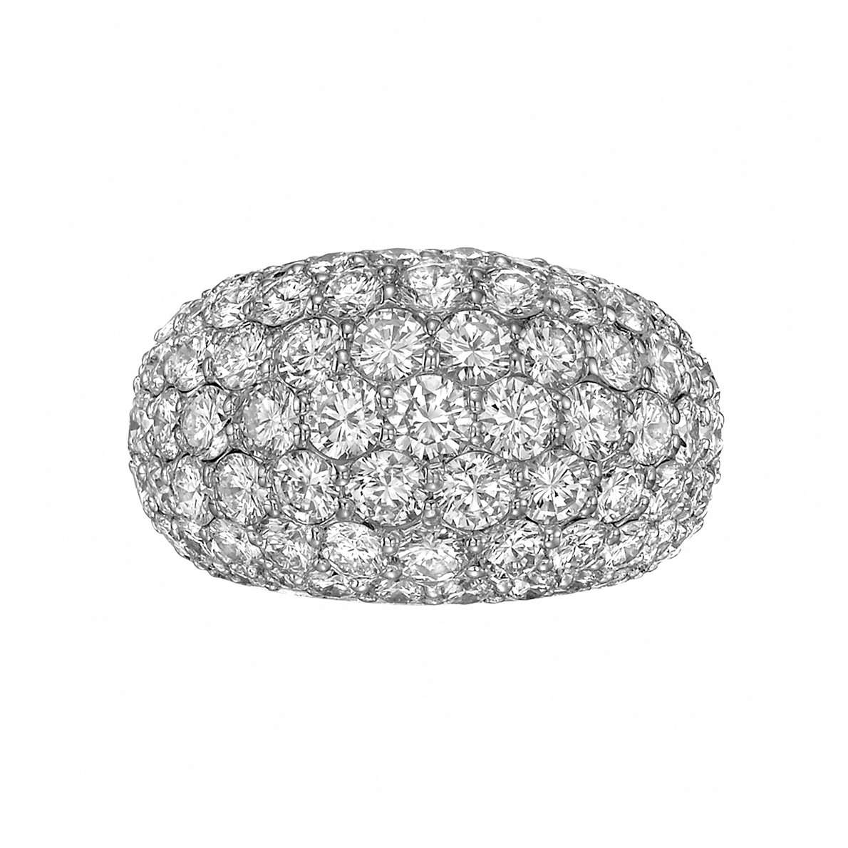Platinum & Diamond Dome Ring