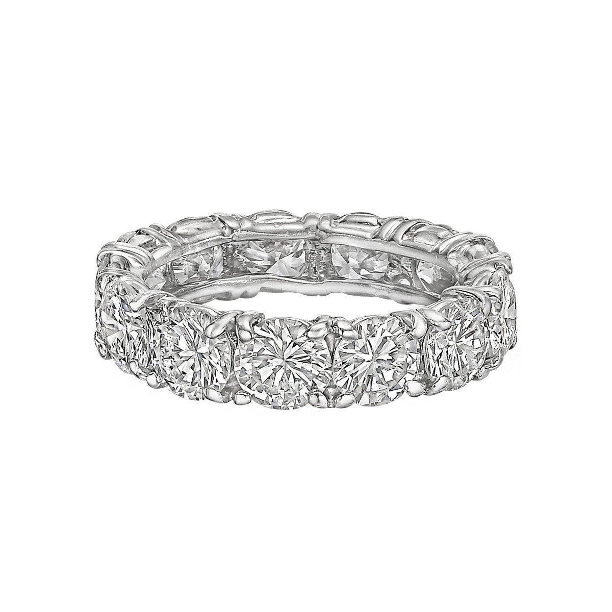 Round Brilliant Diamond Eternity Band (~4.29ct tw)