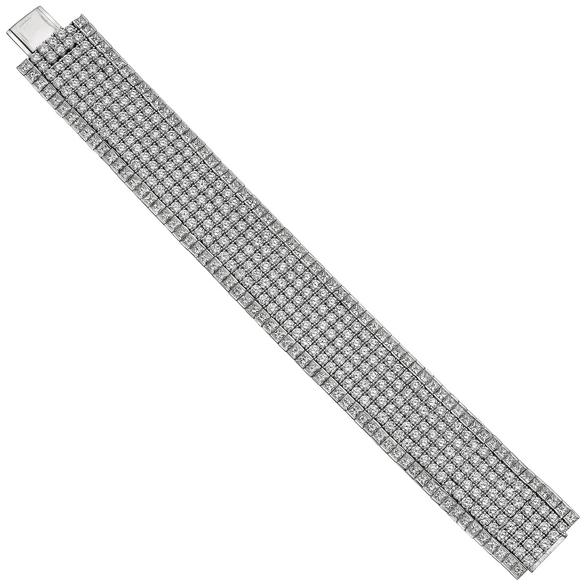 Platinum & Diamond Wide Bracelet (42.91ct tw)