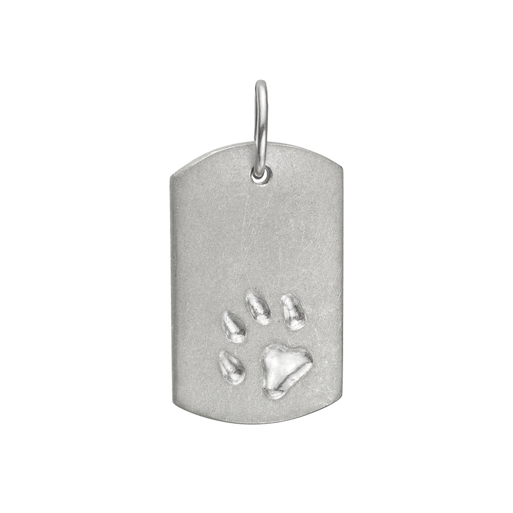 Platinum Dog Tag Pendant