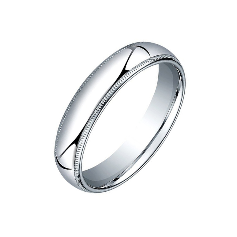 s double band wedding milgrain platinum men bands