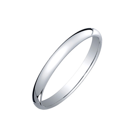 Platinum Comfort Fit Wedding Band (2.5mm)