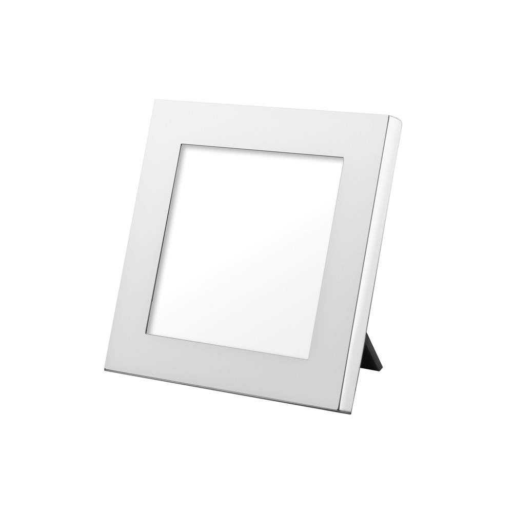 "Polished Silver Picture Frame (4 x 4"")"