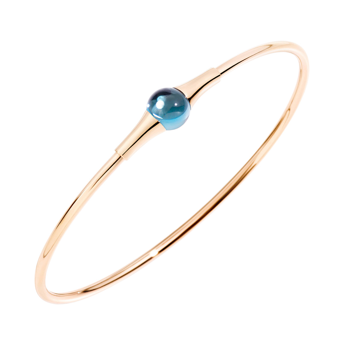 "London Blue Topaz ""M'ama Non M'ama"" Bangle"