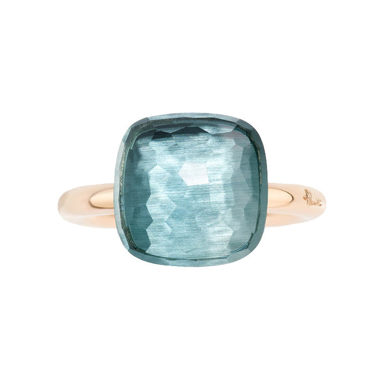 "Maxi Blue Topaz ""Nudo"" Ring"