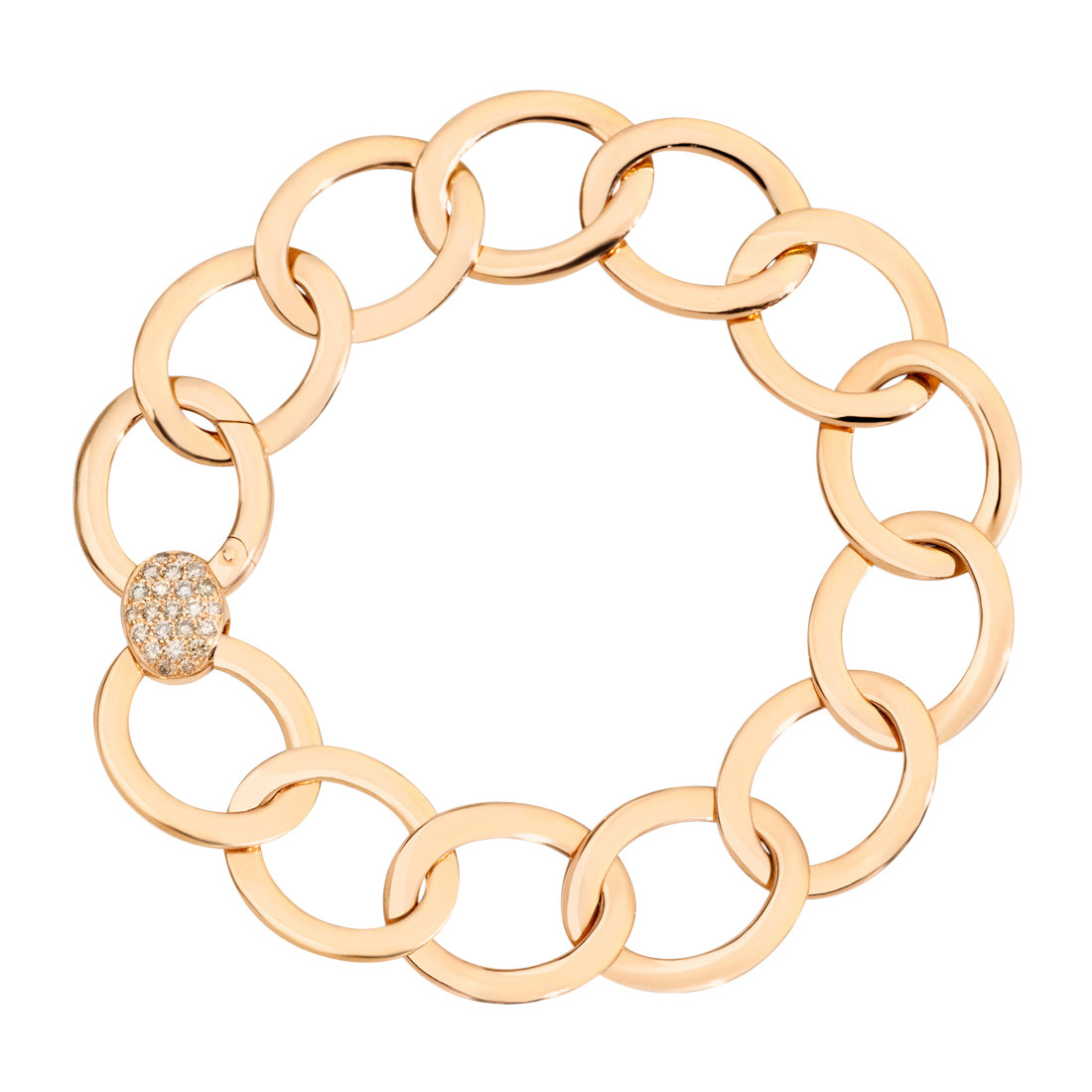 "18k Rose Gold & Diamond ""Brera"" Link Bracelet"