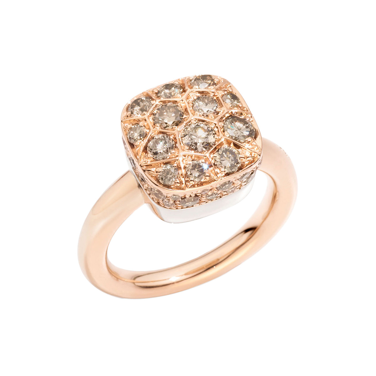 "Pavé Brown Diamond ""Nudo"" Ring"