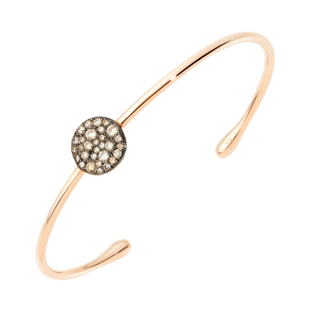 "Brown Diamond ""Sabbia"" Cuff Bracelet"
