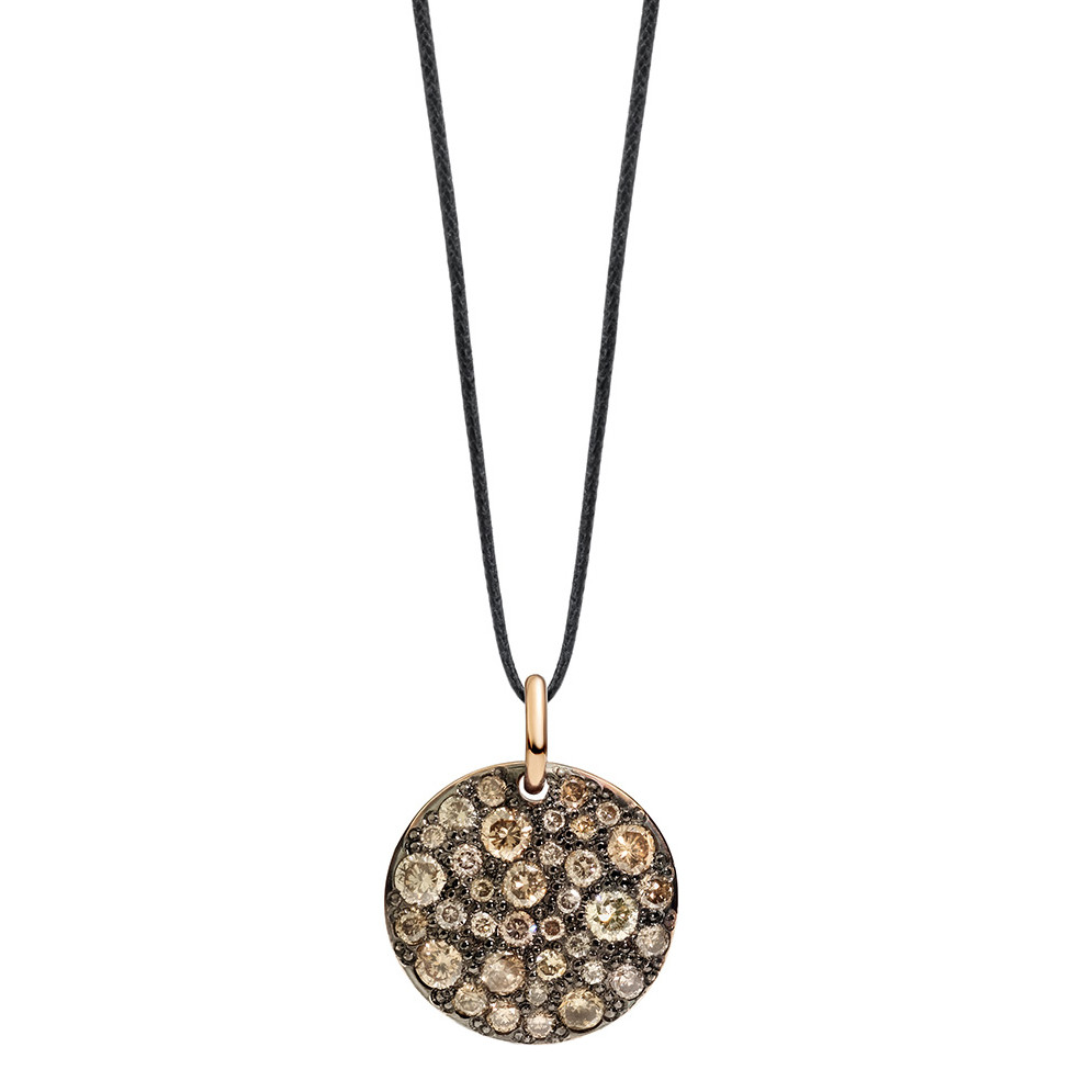 "Brown Diamond ""Sabbia"" Disc Pendant"