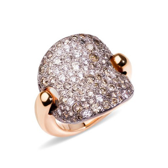 "Brown & White Diamond ""Sabbia"" Ring"