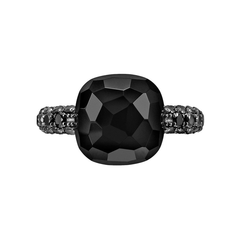 "Black Onyx & Black Diamond ""Capri"" Ring"