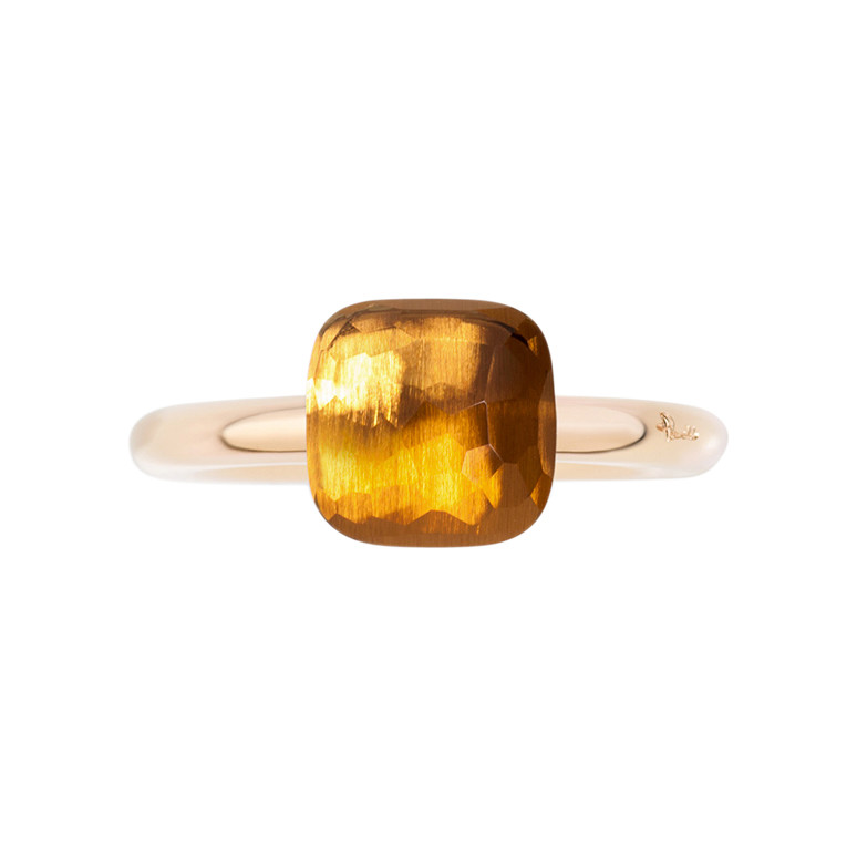 "Small Madeira Citrine ""Nudo"" Ring"
