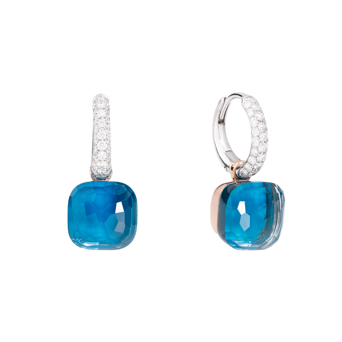 "London Blue Topaz & Turquoise ""Nudo"" Drop Earrings"
