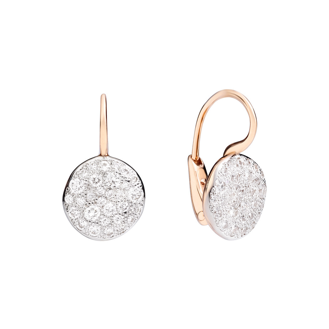 "Diamond ""Sabbia"" Drop Earrings"