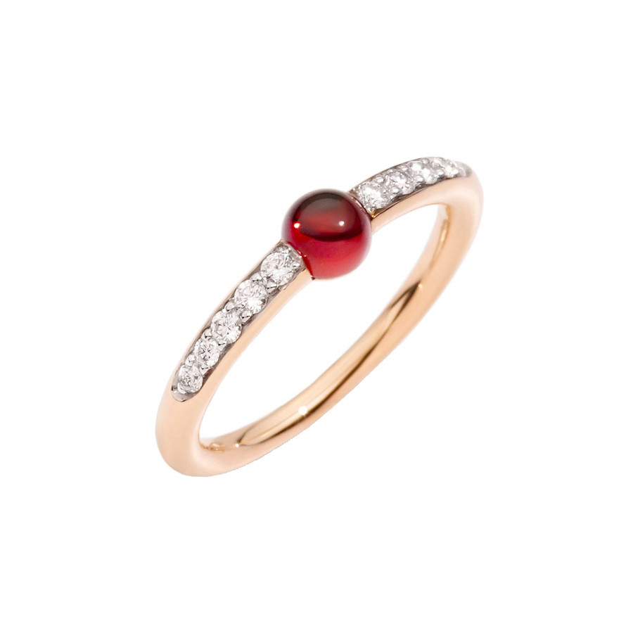 "Garnet & Diamond ""M'ama Non M'ama"" Ring"