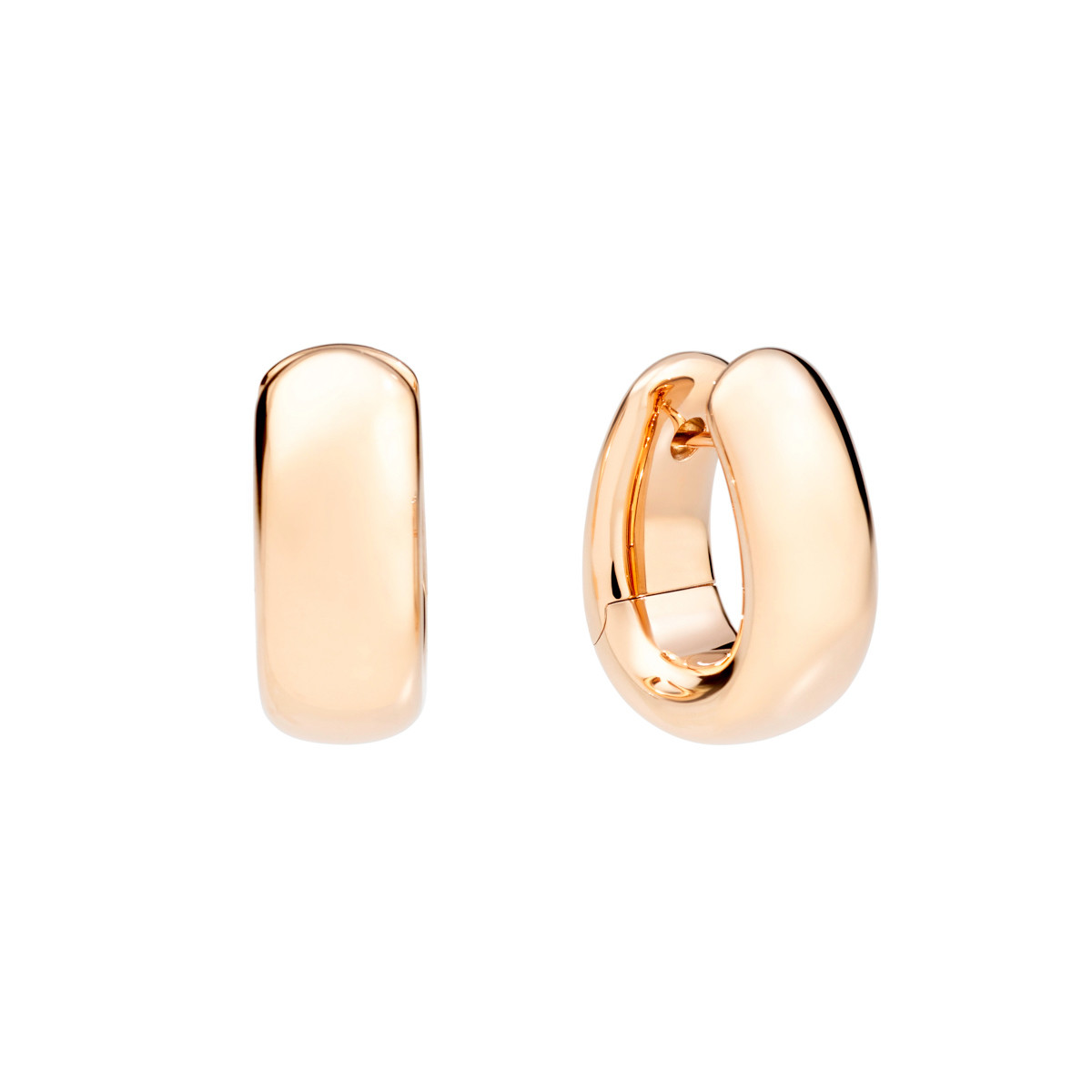 "18k Rose Gold ""Iconica"" Hoop Earrings"