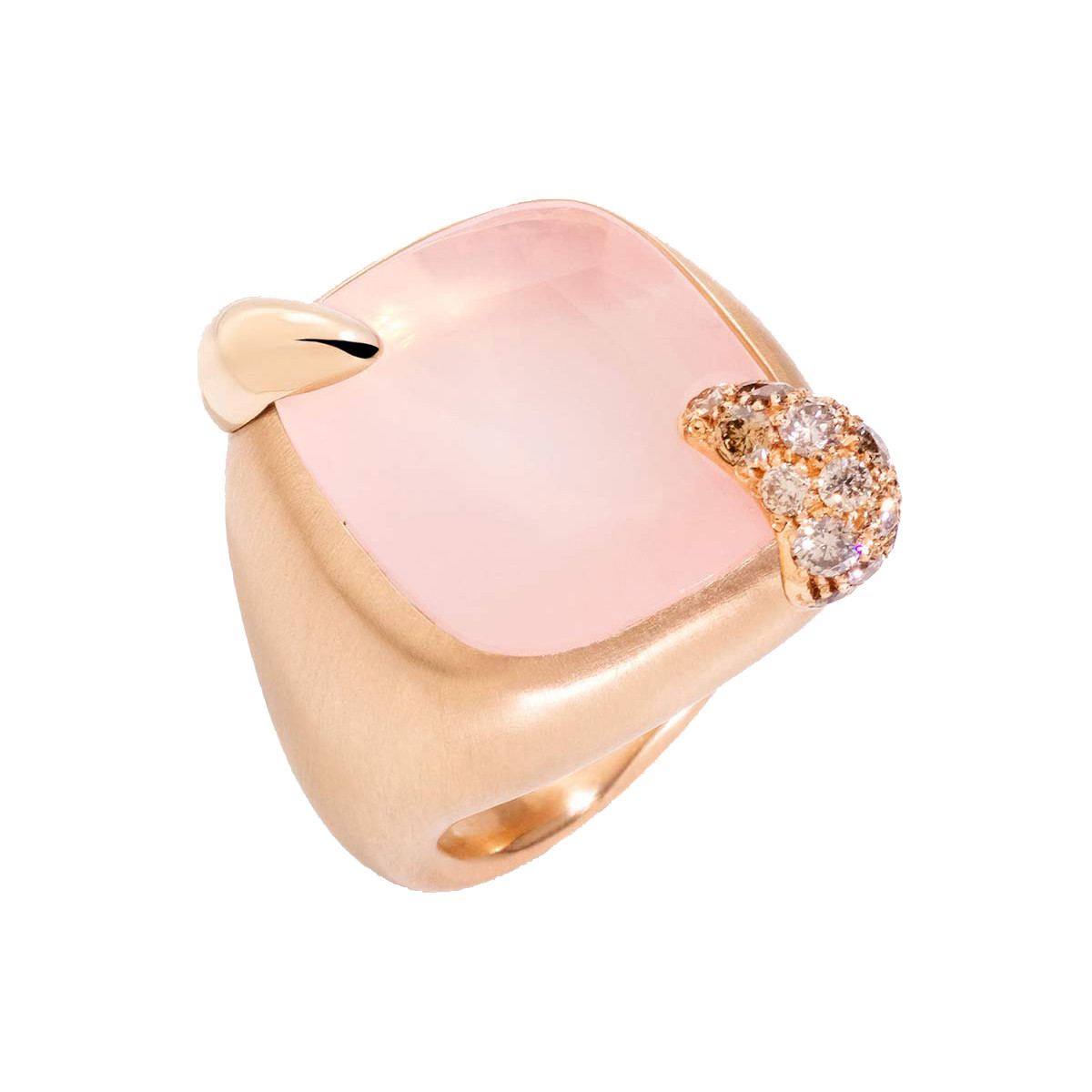 "Medium Pink Quartz ""Ritratto"" Ring"