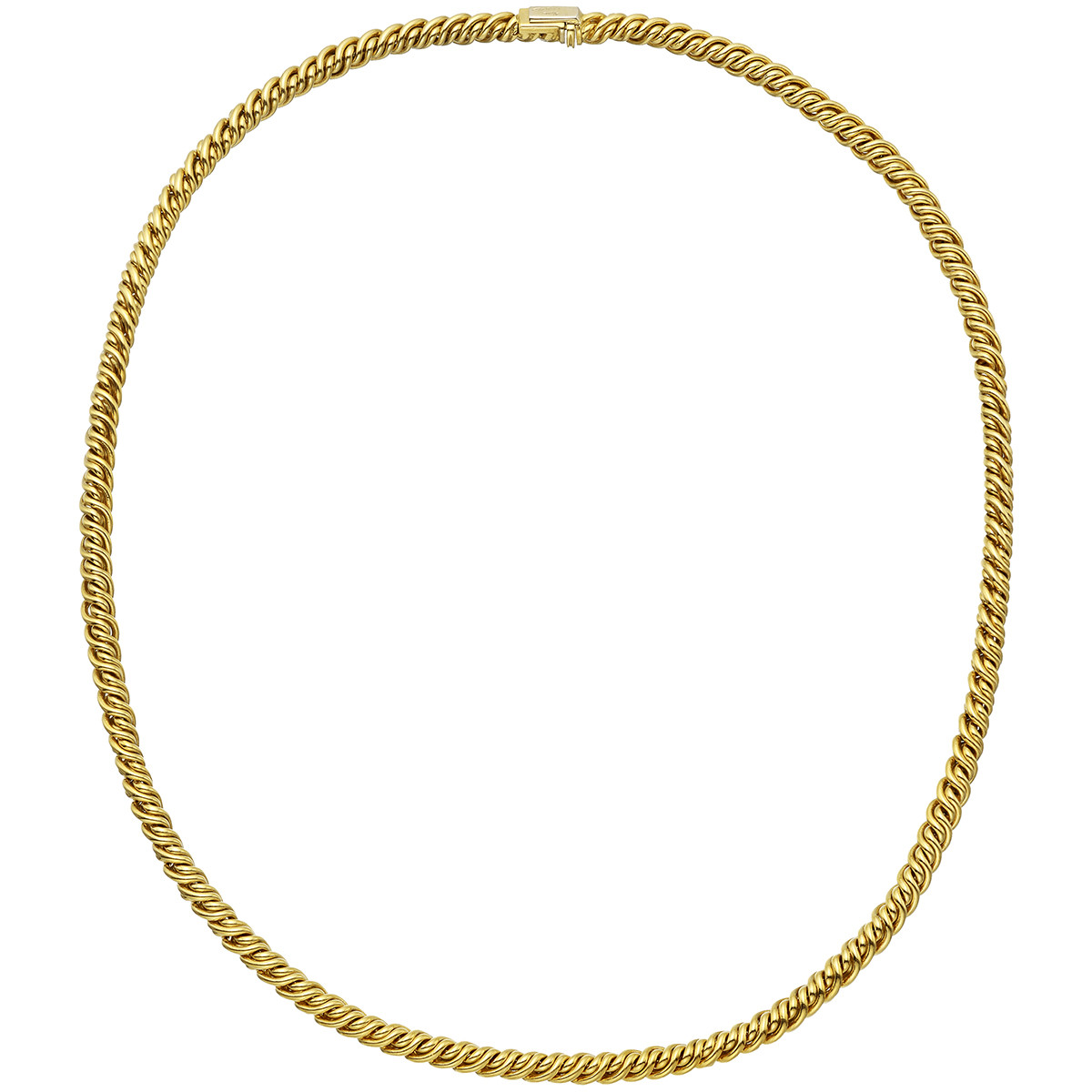 18k Yellow Gold Twisted Chain Necklace