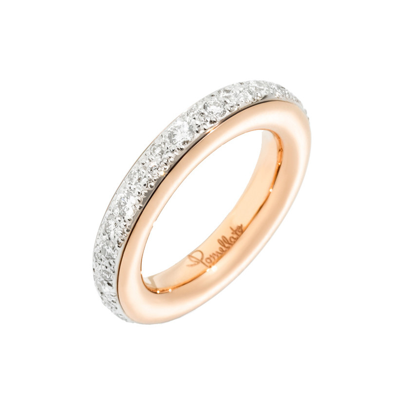 "18k Rose Gold & Diamond ""Iconica"" Eternity Band"