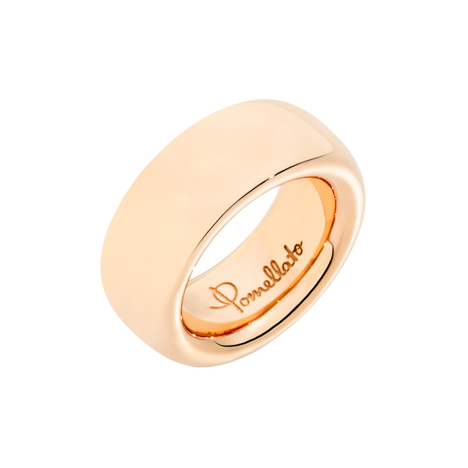 "Large 18k Rose Gold ""Iconica"" Band Ring"