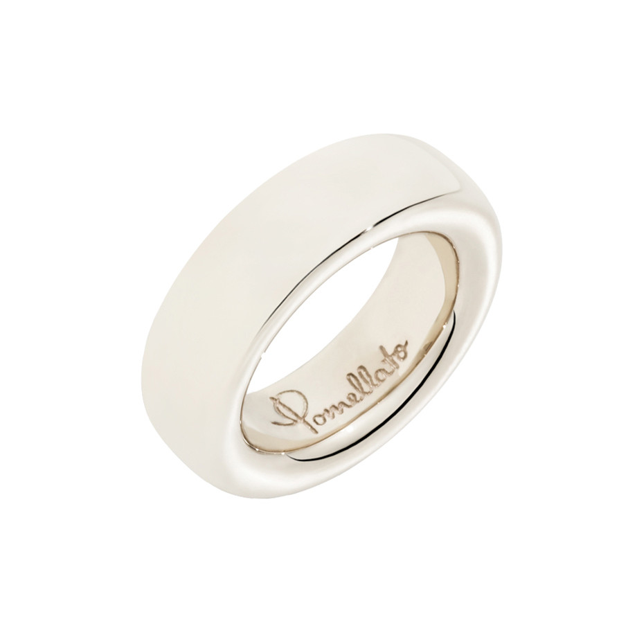 "Medium 18k White Gold ""Iconica"" Band Ring"