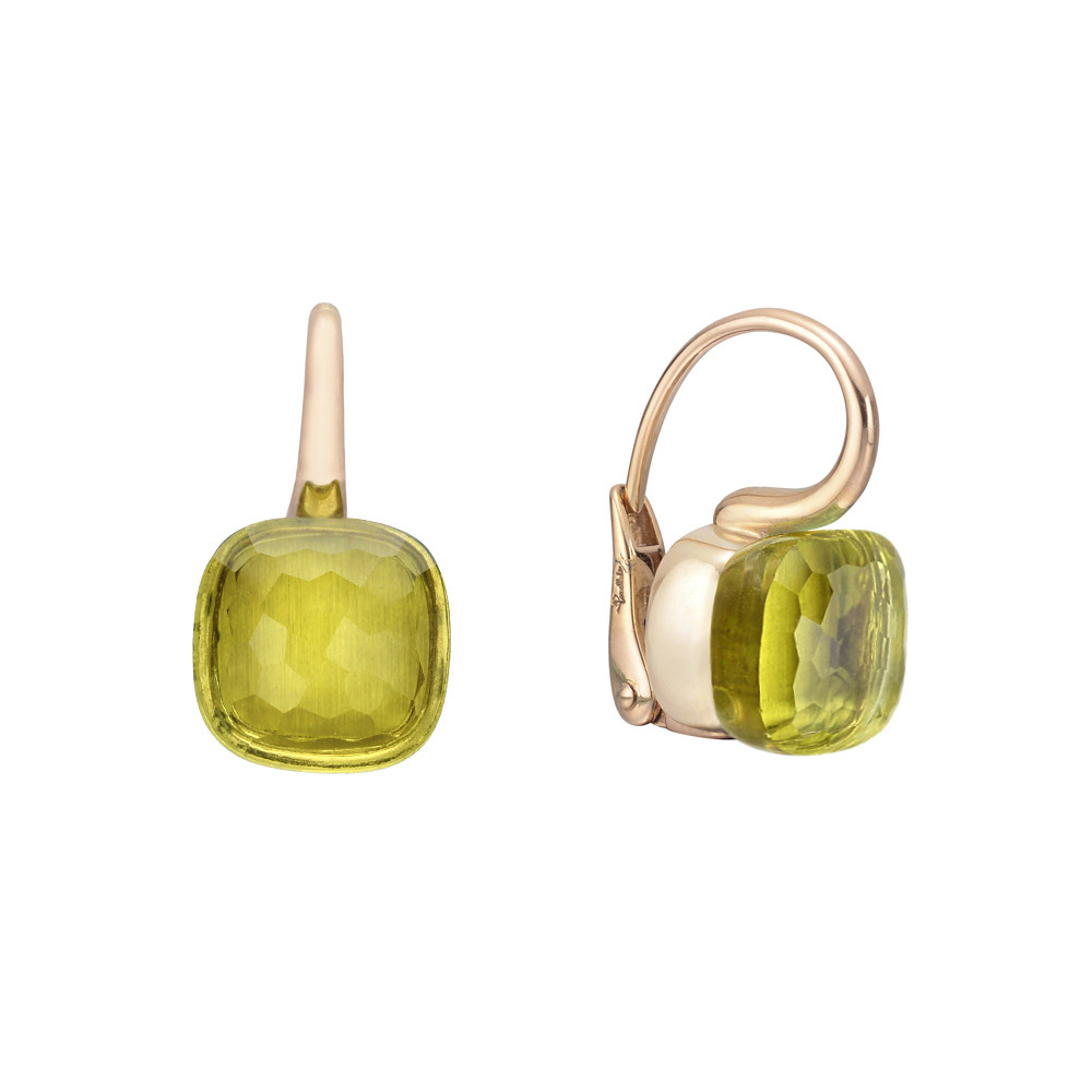 "Lemon Quartz ""Nudo"" Drop Earrings"