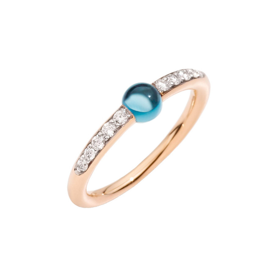"London Blue Topaz & Diamond ""M'ama Non M'ama"" Ring"