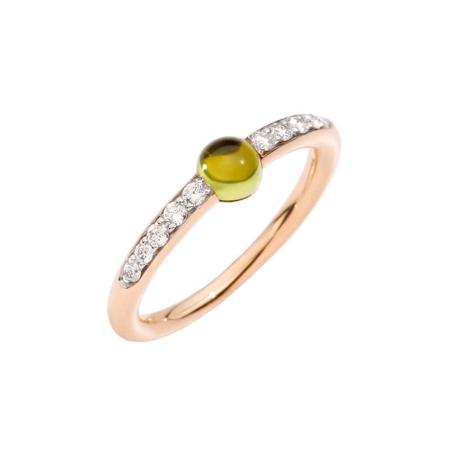 "Peridot & Diamond ""M'ama Non M'ama"" Ring"