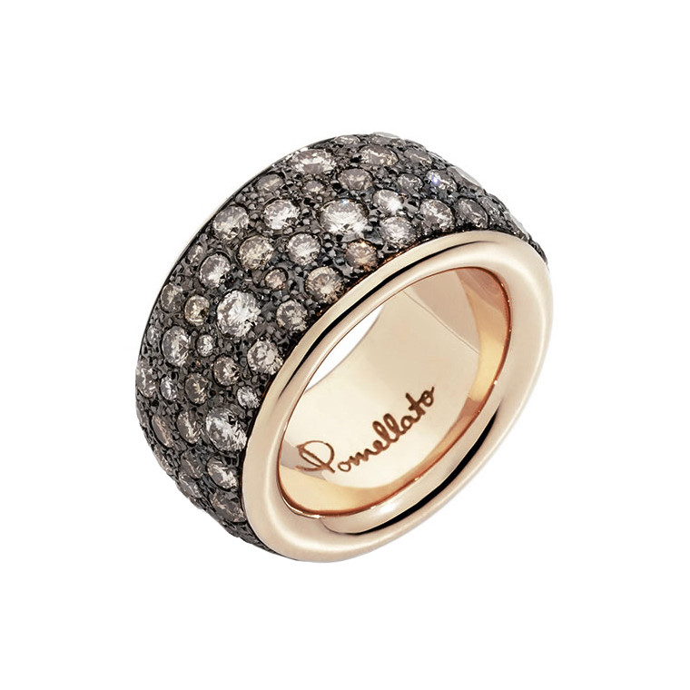 """Maxi 18k Rose Gold & Brown Diamond """"Iconica"""" Band"""
