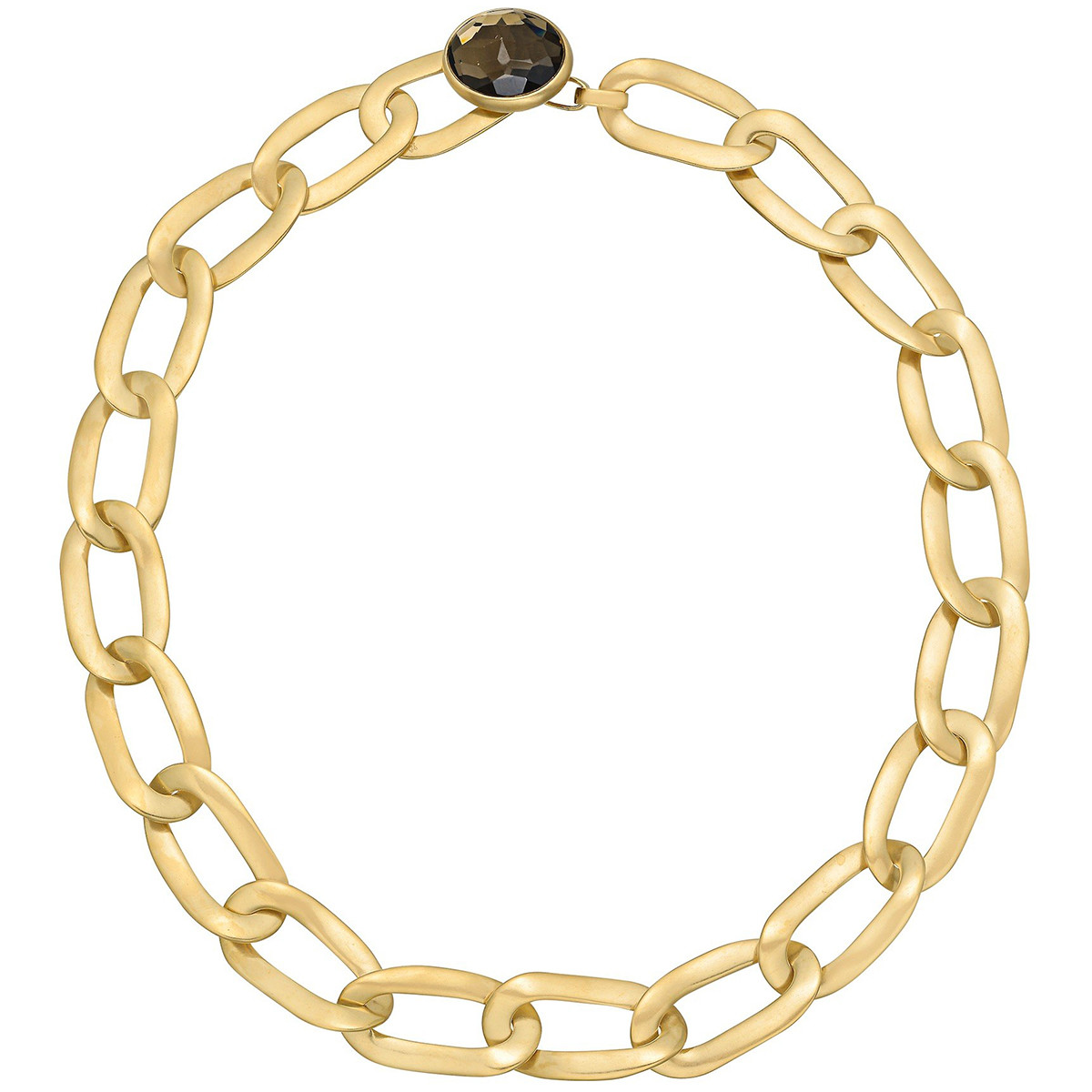 "18k Pink Gold & Smoky Topaz ""Narciso"" Necklace"