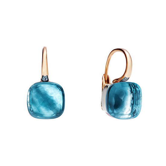 "Blue Topaz ""Nudo"" Earrings"