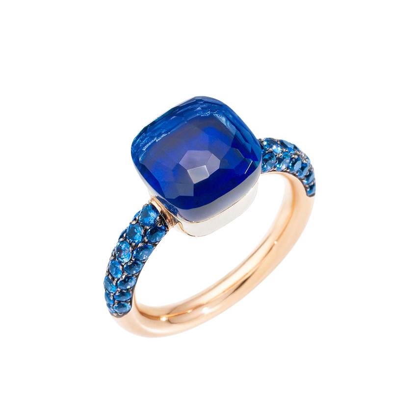 "London Blue Topaz & Lapis Nudo ""Deep Blue"" Ring"