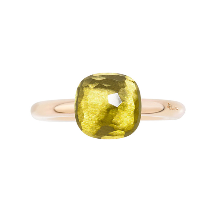 "Small Lemon Quartz ""Nudo"" Ring"